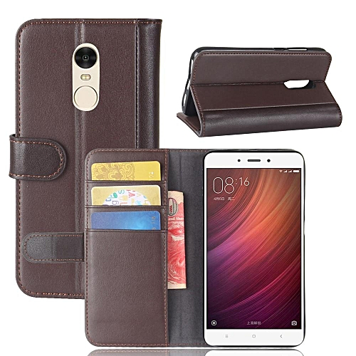 official photos 7ff78 84c8f Real Leather Wallet Case Cover for Xiaomi Redmi Note 4