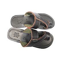 African Men Open sandals - Black