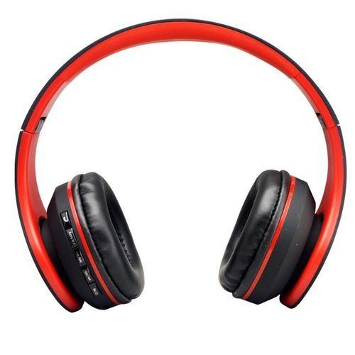 Audio Blutooth Earphone Auriculares Wireless Headphones - Red & Black