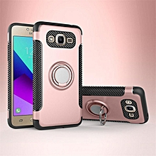 KZ Slim Fit Hybrid Dual Layer Armor Shock Absorption Rugged Defender with Ring Holder Kickstand Drop Protection Soft Rubber Bumper Case Cover for Samsung Galaxy J2 Prime   XXZ-Z
