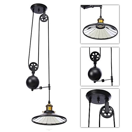 Generic Retro Vintage Edison Industrial Pulley Pendant Light