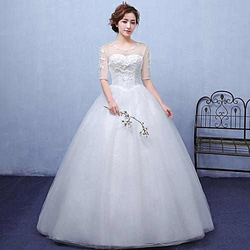 AFankara Simple Wedding Gowns,Evening Dresses-White @ Best