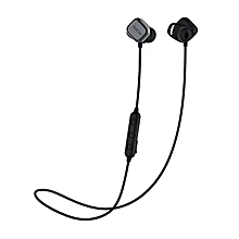 Bluetooth Stereo Earphone Wireless Magnetic Earbuds - Black