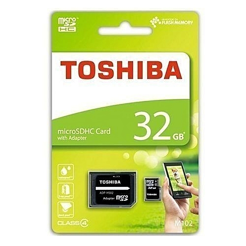 TOSHIBA Micro SD Memory Card TF With Adapter - 32GB - Black