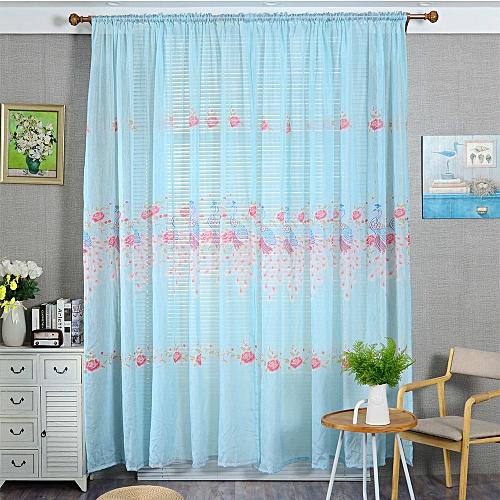 Buy Muyi 1 Pcs Peacock Color Silk Door Window Curtain Drape Panel