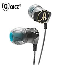 QKZ DM7 Earphone In-ear Subwoofer Metal Belt Wheat Earphone HIFI Earphone