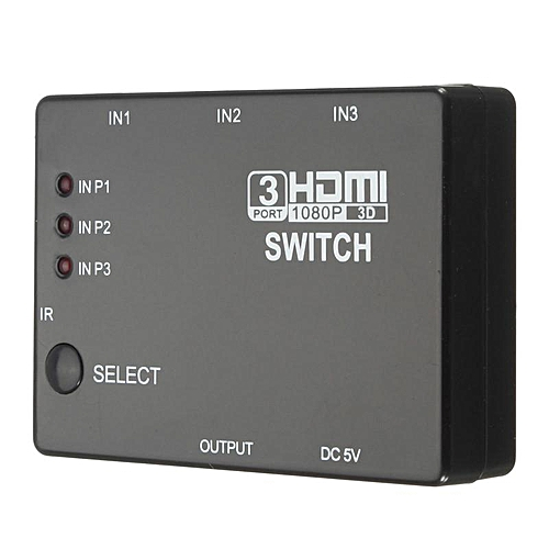 3 Port 1080P HDMI Switch Selector Splitter Hub +Remote For PS3 PS4 HDTV  MAGICIAN