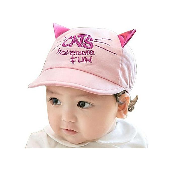 Braveayong Toddler Infant Sun Cap Summer Outdoor Baby Girls Boys Sun  Baseball Hat Pink -Pink 0d40b38aea2