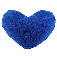 Soft Emoji Heart-Shaped Pillow Plush Toy Decorative Cushion Pillow For Home Sofa Office (Dark Blue)