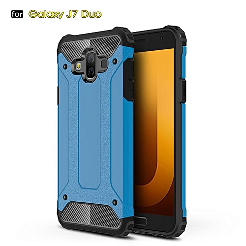 meet 871c4 a609d For Galaxy J7 DUO Case Hybrid Durable Shield Armor Rugged Shockproof Back  Cover For Samsung Galaxy J7DUO Case 5.5inch