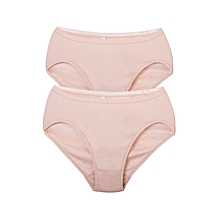 Cotton Panties - Nude High Leg - 2 pieces