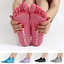 Women Colorful Five Finger Toe Yoga Anti Skid Socks Gym Exercise Fitness Sports Pilates Comfortable