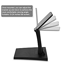 【Buy More Save More】TV Mount Desk Bracket Mount Stand Holder Base for 10-24 Inch Flat LED LCD Monitor Screen