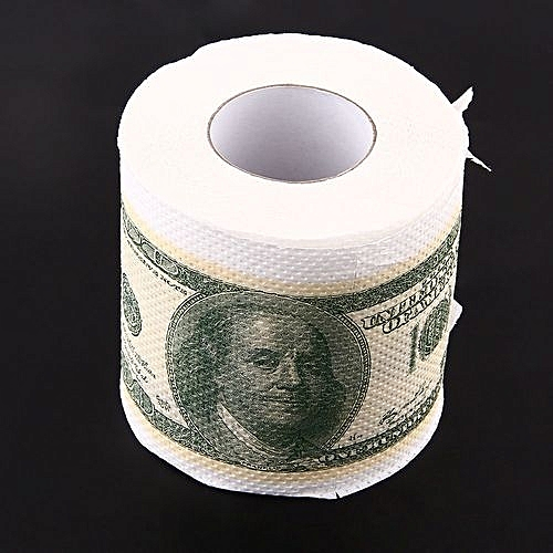 Novelty Funny Toilet Paper 100 One Hundred Usd Dollar Money Roll Magic