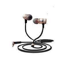 ES - 20TY 3.5MM Plug Wired Stereo HiFi Music Earphones Headphones -Gold