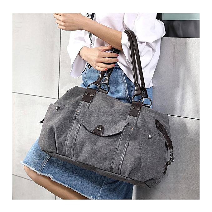 KVKY Front Pockets Canvas Shoulder Bags Vintage Tote Handbags Crossbody Bags  ... 006218e115