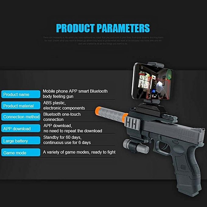 Nice Belle Portable Bluetooth AR Games spear Real Shooting Experience  Augmented Reality Black