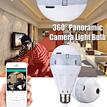 360-degree Panoramic 1080P WIFI LED Light Bulb Security Camera APP Control 64G
