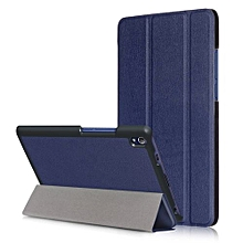 "For Lenovo Tab3 8 Plus Case, Ultra Slim Case + PU Leather Smart Cover Stand Auto Sleep/Wake For 8.0"" Tablet Lenovo P8 TB-8703, Dark Blue"