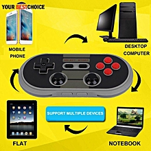 LEBAIQI Portable 8Bitdo NES30 PRO Bluetooth Wireless Game Controller Full Buttons