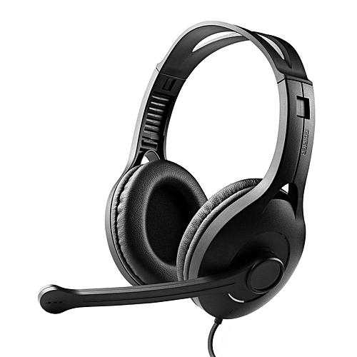 LEBAIQI Edifier K800 Communicator Headphone with Microphone (Black)
