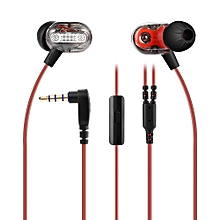 ZSE Professional Dual Dynamic Driver Units Stereo HiFi Music Earphones - Black