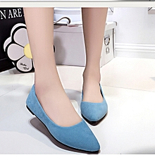Women flat pointed shoes light blue