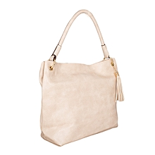 Beige Satchel Bag