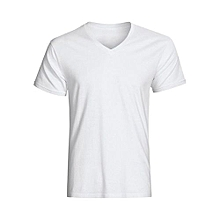 Fitting V-Neck T-Shirt - White