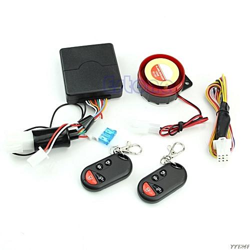 Motorcycle Bike Security Alarm System Immobiliser Remote Control Engine  Start SHIELD