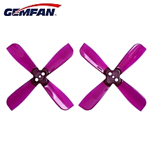 Mounting Hole CW CCW for Micro Racing Quacopter BN 2 X 3.5 4-Blade Propeller 1.5mm - Purple