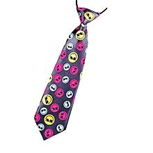 New School Boys Kids Children Baby Wedding Print Striped Colour Tie Necktie