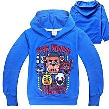 US Boys' Five Nights Hedging Long-sleeved Thin Sweater(Color:Blue)