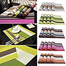 New Table Mat - 45cm x 32cm - 6Pcs - Multicolor Stripped .