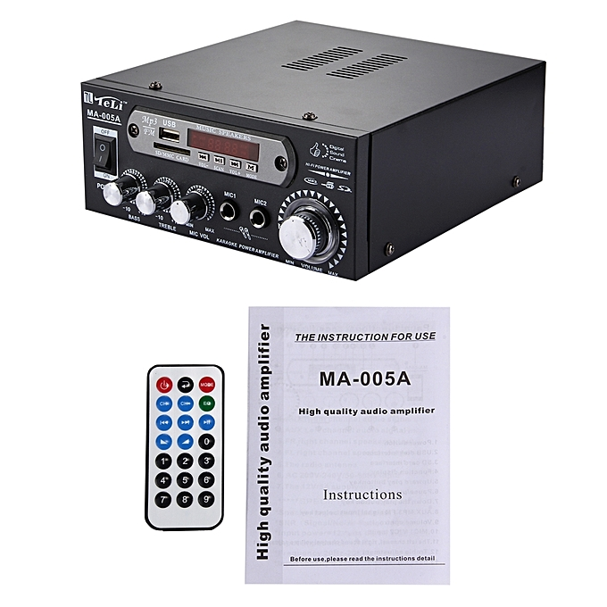 Buy Generic Ma 005a 2ch Hifi Stereo Audio Amplifier With Remote