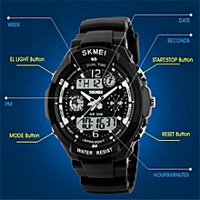 Suitable Skmei Brand Sports Watches Fashion Casual Watches Men's S-Shock Quartz Wrist Watch Analog Military LED Digit Watch Montre Homme-black Yellow
