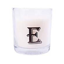 """Letter """"E"""" Alphabet Scented candle - White"""