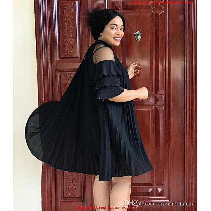 2dc0885ccec Lace pleated slip dress dress chiffon new style fashion prom dress 2019 for  women ...