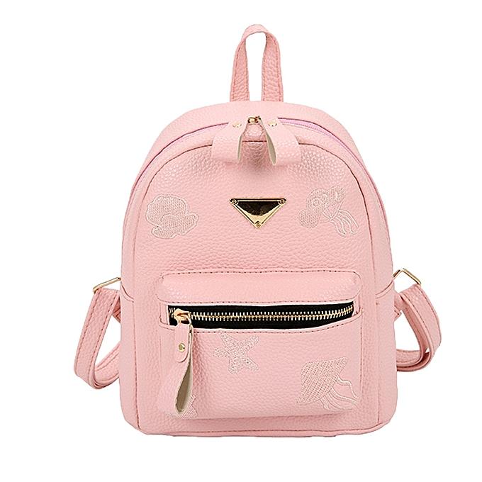 jiuhap store Women Girl School Bag Travel Small Backpack Satchel Shoulder  Rucksack Backpack -Pink 5381ed775c