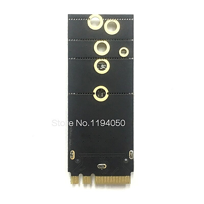 BCM94360CS2 BCM943224PCIEBT2 BCM94331CSAX BCM94331CD BCM94360CS BCM943602CS  wireless card to NGFF M 2 A / E adapter for Mac OS(BCM943602CS M 2 PCB)