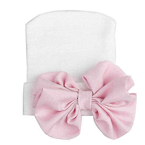 6f7948cede4 Generic jiuhap store Cute Baby Girls Boys Bowknot Cartoon Toddlers Cotton  Sleep Cap Headwear Hat-White