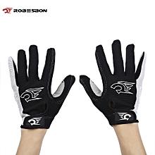 Paired Sport Motocross Mountain Bike Bicycle MTB Cycling Full Finger Gloves for Men Women - Black