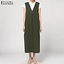 39cff53c06e44 ZANZEA Women Vintage Sleeveless Bib Cargo Pants Dungaree Jumpsuit Romper  Plus