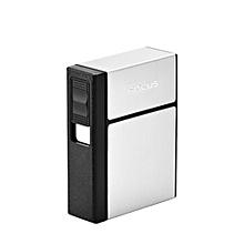 Cigarette Dispenser Storage Box Flip Cigarette Case 20 Loaded High Capacity with Detachable USB Rechargeable Cigarette Lighter
