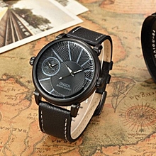 2018 Mens Watch OHSEN Brand Luxury Casual Military Quartz Dress Wristwatch Leather Strap Male Clock Watch Relogio Masculino Gift