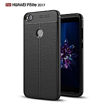 PU Leather Litchi Pattern Case For Huawei P8 Lite 2017 Soft TPU Silicone Back Cover For Huawei Honor 8 Lite Phone Case