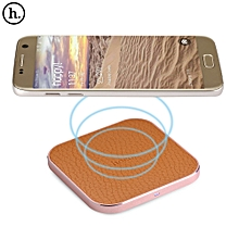 HOCO CW2 PU Leather Aluminum Alloy Frame Wireless Charging Station ROSE GOLD