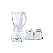 3 in 1 Blender with Grating Machine -  2 Litres - White -350W