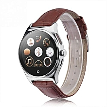 R11 Smart Watch Remote Controller Heart Rate Calls/SMS Sedentary Reminder Smartwatch - Gold