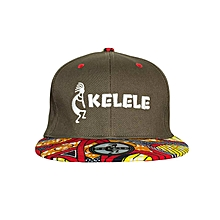 Brown And Red Snapback Hat With Kelele Colors On Brim